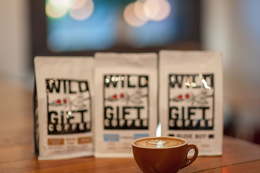 Once Over Coffee Bar serves Wild Gift Coffee